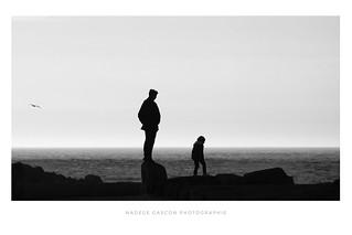 Père et fils à la pointe de la torche