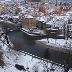 Lazebnický most (Barber's Bridge), Český Krumlov, South Bohemia, Czech Republic thumbnail