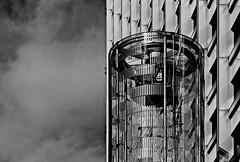 ....the tower.... (christikren) Tags: austria architecture blackwhite christikren city facade monochrome linescurves panasonic reflection sw vienna wien tower rzbturm salztorbrücke urban
