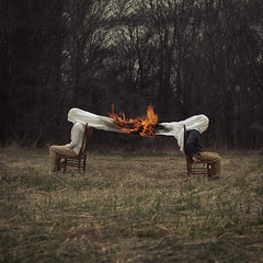 Burning Bridges (Sam Harnois) Tags: surreal surrealism dark fire conceptual
