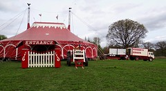 Security Is Paramount. April 2018 (Simon W. Photography) Tags: circus bigtop tree red green alfreton derbyshire security simonhx100v sonydschx100v sonyhx100v hx100v outdoor outdoors outside landscape landscapephotography april april2018 spring spring2018 unitedkingdom uk england english greatbritain gb britain british eastmidlands gate tractor