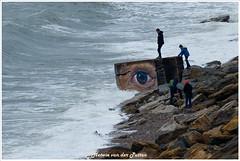 Look (Hetwie) Tags: nature hightide france beach frankrjk rocks opaalkust sea rotsen natuur noordzee eye oog eb water vloed zee audresselles pasdecalais frankrijk fr côtedopale