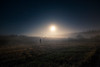 Kuuhulluus (Night photographs from Finland) Tags: night moon stars fog misty field finland man flashlight mystical lunar effect kuuhullu