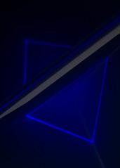 Triangle Illumination 3 (32/100 DIBB) (Colorado_Eric) Tags: abstract edited flash gel geometry stilllife strobist triangle 100xthe2018edition 100x2018 image32100