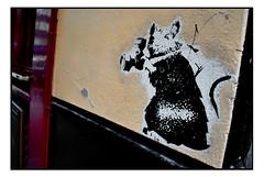 STREET ART by BANKSY (StockCarPete) Tags: banksy streetart londonstreetart urbanart graffiti rat london uk camera papratz paparazzi