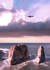 "Beirut, Lebanon (""What's in the box?!"") Tags: travel sky sunset sunsets sun plane airplane potd photograpehr photography landscape sea seashore beach waves landscapes canon dslr digital digitalart cliffs rocks nature lebanon beirut clouds cloud light"