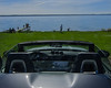 A cabriolet driver inspecting the beach (frankmh) Tags: car cabriolet driver beach sea water helsingborg skåne sweden öresund denmark spring