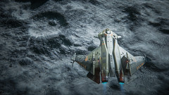 Gladius Valiant over the Cellin (Corsair62) Tags: star citizen game screenshot squadron 42 flight space ship cig robert industies pc ingame shot simulator video wallpaper corsair62 photography reclaimer 4k 219 gaming image scifi foundry cloud imperium games people photo cellin gladius valiant