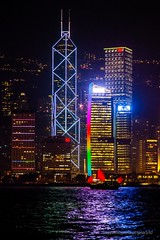 a short story about red sails (ignacy50.pl) Tags: china asia hongkong water river skyscraper architecture buildings nightlights nightscape nightview junk sail boat sailboat travel city