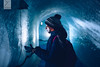 It's cold ! (Yannick Charifou Photography ©) Tags: nikon d850 afs2470mm28g bleu orange blue froid cold hiver winter cinema fx full frame charifou mer glace chamonix snow mont blanc montblanc bonnet gant intérieur lumière reflet dof deepth field bokeh light noflash portrait femme dame alpes alpin grotte glacier