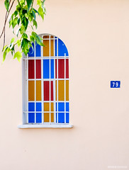 (solerab) Tags: window tiles leaves minimal nikon d90 18200vr greece church korinthia