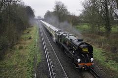 Golden Arrow (McTumshie) Tags: 132h 20180330 35028 belmondbritishpullman clanline goldenarrow locomotive railway steam train beckenham england unitedkingdom