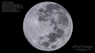 Stunning early morning view of the International Space Station Full Moon transit