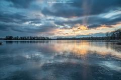 Tegeler See (oolcgoo) Tags: sony alpha berlin tegeler see eis ice landscape seascape natur deutschland germany wolken clouds sundown sunset sonnenuntergang