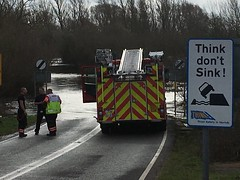 Water Rescue - Welney - Fenland - 3 April 2018 (Cambridgeshire Fire and Rescue Service) Tags: firefighter incident water rescue welney fire engine norfolk fenland wisbech crew flood flooding cambridgeshire