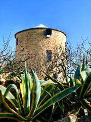 Windmill without wings_IMG_7660 p (AchillWandering) Tags: windmill greece aegina island ciel blue