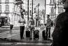 tourists on the move (Gerard Koopen) Tags: spanje spain malaga city people man men luggage tourist straat street straatfotografie streetphotography candid bw blackandwhite blackandwhiteonly fujifilm fuji xpro2 35mm 2018 gerardkoopen streetlife