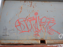 Deuce Seven - The Broadcaster (Railroad Rat) Tags: freight train riding hopping graffiti monikers art railroad dumpster diving camping reclaim traveling wander america united states union pacific culture high desert snow feather river route overland