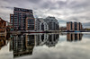 Millwall Outer Dock (redbankmoz) Tags: londonflickrmeet2018 cloudscape clouds london england unitedkingdom gb canary wharf firecrest formatt hitech long exposure cityscape landscape isle dogs flickr meet 2018 gallery