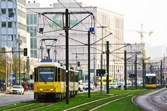 Tatra KTD4 6154 + 6132 als M4 (M. Schirmer Berlin) Tags: berlin bvg tram strasenbahn tatra ktd4 m4 umleitung deutschland germany mitte karlliebknechtstrase rasengleis galeria kaufhof alex alexanderplatz