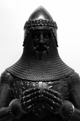 The Black Prince (richardr) Tags: blackprince gallery sculpture knight medieval nationalportraitgallery london england english britain british greatbritain uk unitedkingdom europe european old history heritage historic male man prince cast bw blackandwhite blackwhite