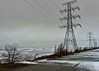 Spring Storm on the Lake (otterman51) Tags: april canada lakeontario ontario powerlines powerwires cloudy ice lake rains snow storm water waves windy spring