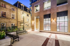 Post House Condominiums - Courtyard (2) (Michael Muraz Photography) Tags: 2015 canada northamerica on ontario posthousecondominium toronto world architecture building city commercial condo condominium court courtyard dusk heritage realestate town twilight ca