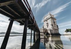 Belém Tower - Lisbon (Alessandro Vallainc) Tags: belem lisbon tower portugal isolated travel landmark ancient historic water river sea ocean tagus architecture monument building europe tourism famous torre place medieval fort portuguese