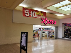 Roses mall entrance (Nicholas Eckhart) Tags: america us usa 2018 marion indiana in retail stores fivepoints mall roses discount departmentstore former reuse hills ames interior