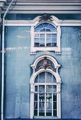 Courtyard windows. Winter Palace. St. Petersburg, Russia (amy buxton) Tags: russia winterpalace stpetersburg sovietunion pentaxk1000 film amybuxton october1985 thehermitage