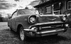 American Made (wardephoto) Tags: blackandwhite blackandwhitephotography closeup classic antique antiquecars chevy maine landscape landscapephotography rural ruralphotography ruraldecay carphotography nikon nikond3300 spring clouds cloudy landscapephoto landscapeexhibition blackandwhitecars