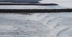 beach (Rosmarie Voegtli) Tags: pattern layers blankenese elbe hamburg beach water wasser nature sun sonne soleil sole ripples waves abstract lines rocks stones