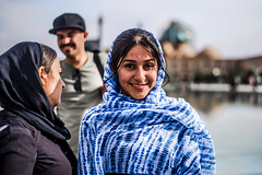 Portrait in Naghshe Jahan, Esfahan, Iran 2018 (PaxaMik) Tags: naghshejahan esfahan isfahan ispahan portrait iran travel travelinginiran girl girlportrait blue mosque emamsquare