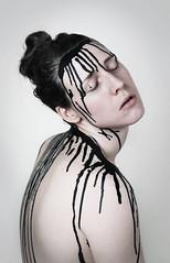 Sore (Alice Rose Photography) Tags: chronic fatigue sore portrait nikond850 nikon human nude ink paint studio