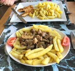 Lunch  - Alfonsos . (AndrewHA's) Tags: bishopsstortford alfonsos food lunch dinner pork chips chicken alfonso restaurant cafe meal
