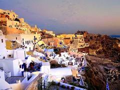 Evening light (majka44) Tags: santorini evening greece travel light sky sunset colors people blue architecture building nice sunrise sea