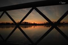 Desde el mirador... (cienfuegos84) Tags: amanecer siluetas agua naranja azul nubes espagne