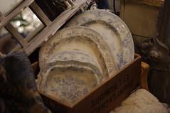 Vintage china (Blue sky and countryside) Tags: blueandwhite bonechina vintage plates shabbychic old beautiful valued cherished shop matlock derbyshire england pentax dof bokeh primelenslove