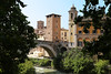 The ponte Fabricio from 62 BC is the oldest bridge in Rome (B℮n) Tags: castellocaetani caetani rome roma italy italia italië pontefabricio ponsfabricius bridge fabricio river tiber isola tiberina chiesadisangiovannicalibita sanbartolomeoallisolabasilica sanbartolomeoallisola basilicadisanbartolomeoallisola 40ºc island torredeicaetani oldest holiday vacation heatwave summer hospital tower pons fabricus temple healthcare 100faves topf100
