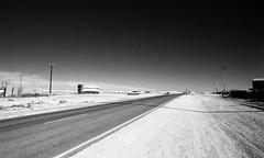 1346 (The Dent.) Tags: kodakhawkeyesurveillancefilm south australia coober pedy tmx dev 19 10 mins 2485 analogphotography nikon f100 24mm red filter desert outback wreckage
