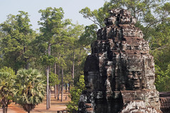 Buddha in calm forest of Angkor (Yuki Ito) Tags: angkor wat buddha architecture tower forest woods park cambodia