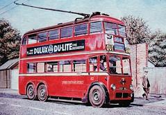 London transport B1 trolleybus 82 on route 654. (Ledlon89) Tags: bus buses trolleybus london londonbus londonbuses londontrolleybus lt lte londontransport lptb b1trolleybus crystalpalace route654 alltypesoftransport
