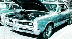 Pontiac GTO (artistic rendition of a classic car) (delmarvausa) Tags: americanmusclecar classiccars musclecars car automobile classiccar carshow americanmusclecars pontiac gto pontiacgto artistic sketch sketcheffect frontend grill faded