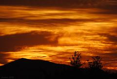 Cielo de fuego (Javiera C) Tags: santiago chile city ciudad sunset atardecer sky cielo silueta silhouette nubes clouds red rojo horizon horizonte fire fuego