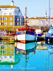Vertical Reflections (Francesco Impellizzeri) Tags: brighton england marina boat canon landscape water reflections ngc