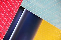 memphis design (Fotoristin - blick.kontakt) Tags: architecture abstract lines colourful geomery memphisdesign ettoresottsass düsseldorf flags