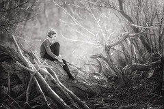 Reka (RobertFenyo) Tags: blackandwhite blackwhite portrait portraiture woods