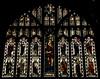 Tamworth, Staffordshire, St. Editha's, St. George's chapel, east window (groenling) Tags: tamworth staffordshire staffs england britain greatbritain gb uk stedithas chapel stgeorgeschapel glass window stainedglass burnejones morrisco saint christopher jesus king david harp mmiia