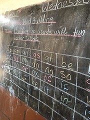 Teaching aids on the blackboard (Global Partnership for Education - GPE) Tags: globalpartnershipforeducation gpe education educationinsierraleone teachingmaterials blackboard sierraleone