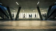 flow of pedestrians 2 (Guy Goetzinger) Tags: goetzinger nikon d850 pedestrian street people underground passanten leute railway station switzerland sousterrain unterführung oerlikon